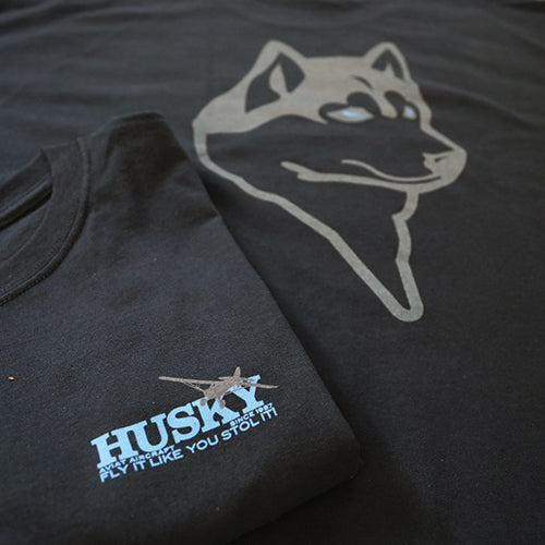 Husky Fly It Like You STOL It Black Tee