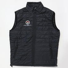 Husky Brand Puffy Vest, Black with Red Embroidery