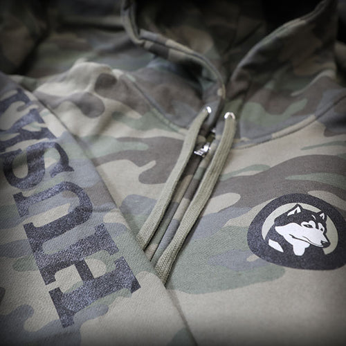 Husky Aircraft Camouflage Heavyweight Zip Sweatshirt
