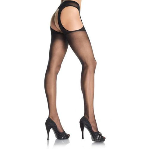 Leg Avenue Sheer Suspender Pantyhose