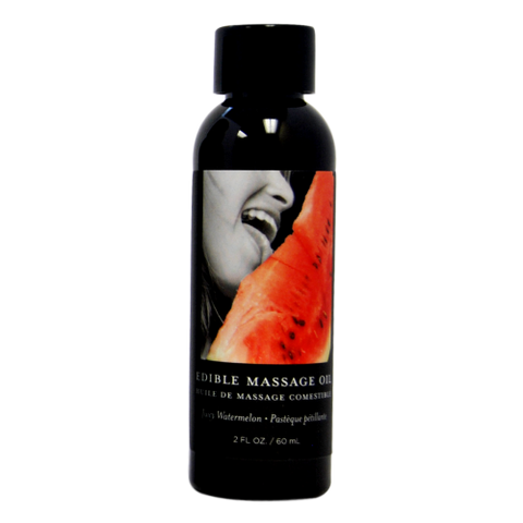 Earthly Body Edible Massage Oil 2oz-Watermelon