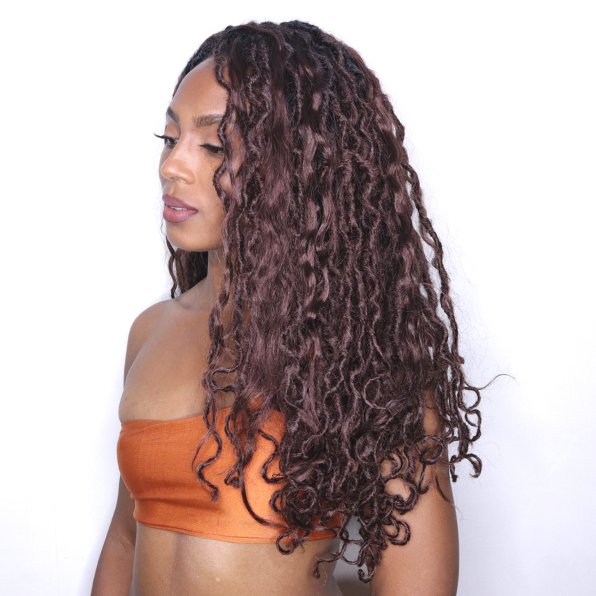 BEACH HOT AUBURN MERMAID LOCS® EXTRA VOLUME WITH LAYERS