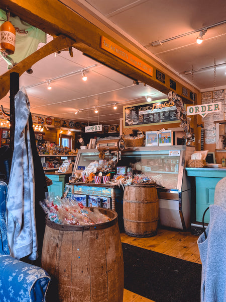 The cutest little coffee shop in Damariscotta, Maine