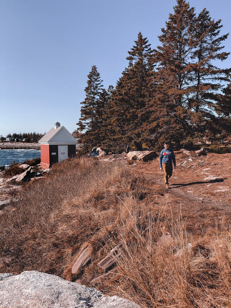 The trail along the coast of pemaquid, Maine