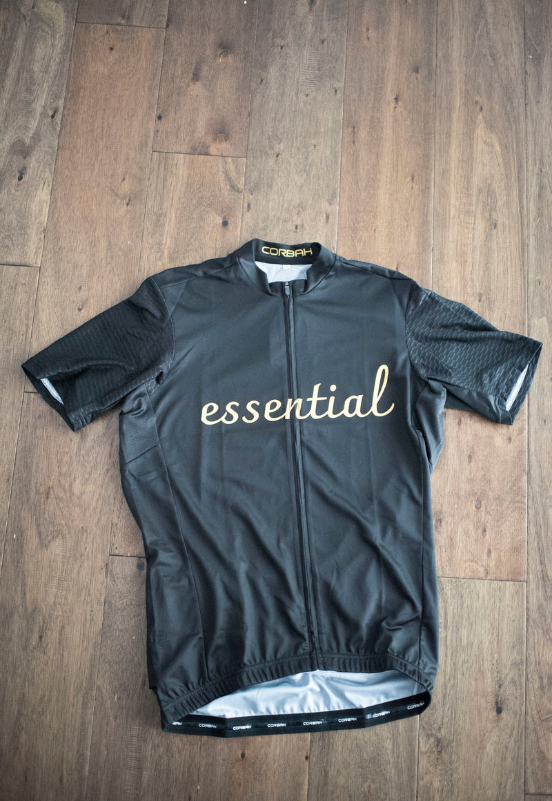 Essential Grey and Gold Short Sleeve Cycling Jersey