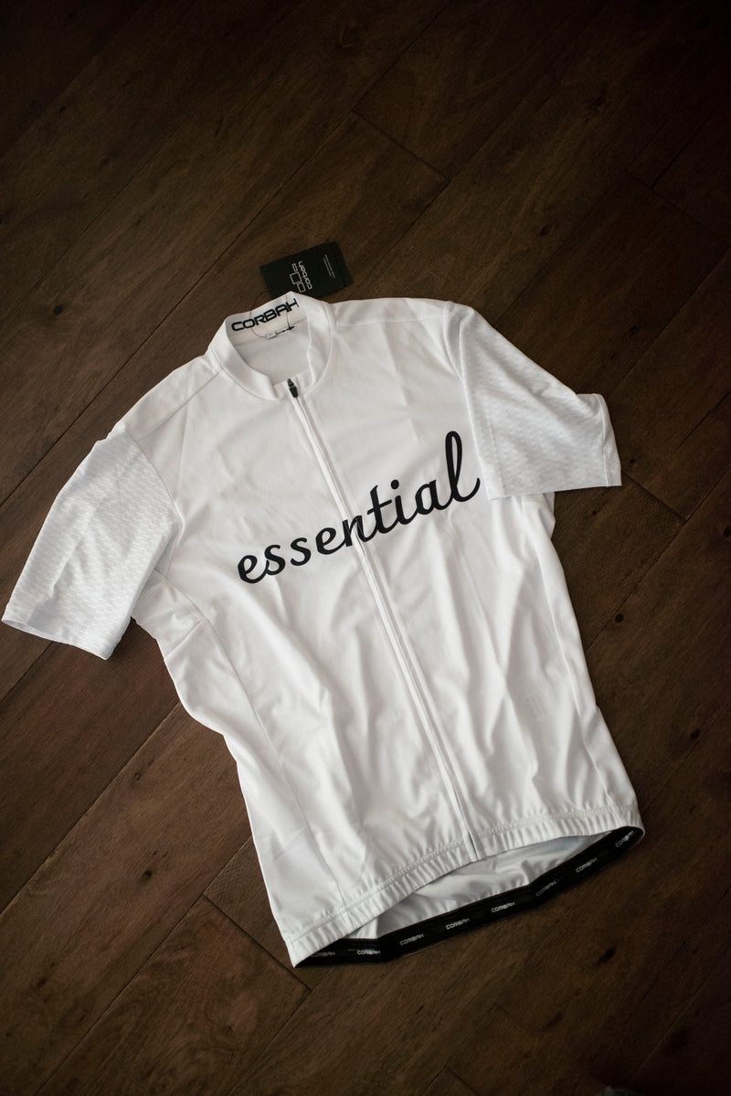 Essential Black & White Short Sleeve Cycling Jersey