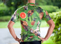 Doggy Pineapple Short Sleeve Cycling Jersey