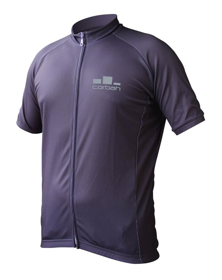 Corbah Solid Grey Cycling Jersey