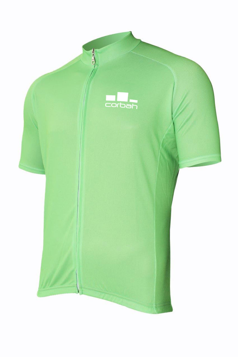 Corbah Solid Green Cycling Jersey