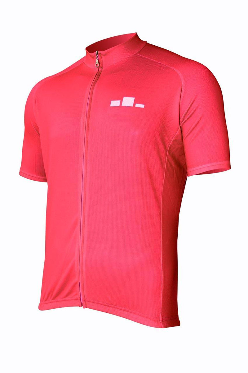 Corbah Solid Red Cycling Jersey