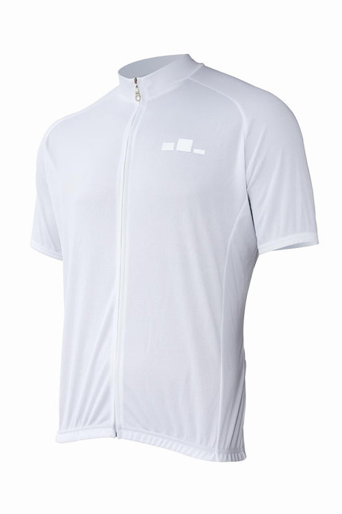 Corbah Solid White Cycling Jersey