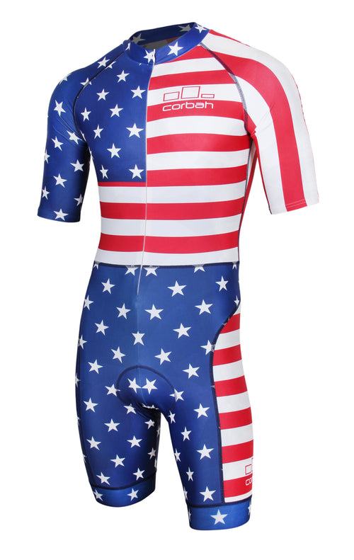 The Patriot Cycling Skinsuit by Corbah