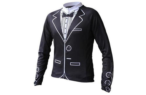 Tuxedo Long Sleeve Cycling Jersey