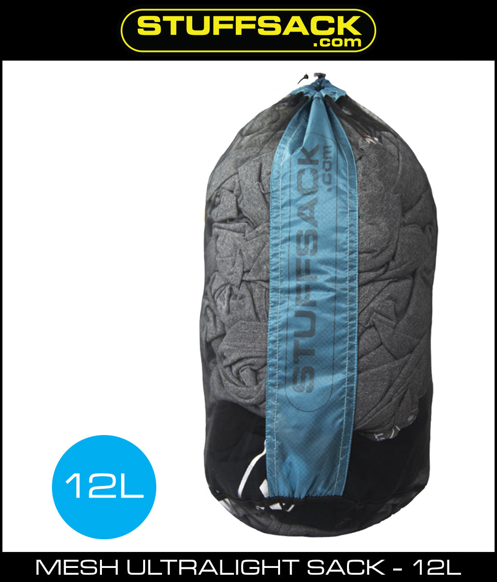 Stuffsack.com Mesh Ultralight Stuff Bag - 12L - Blue