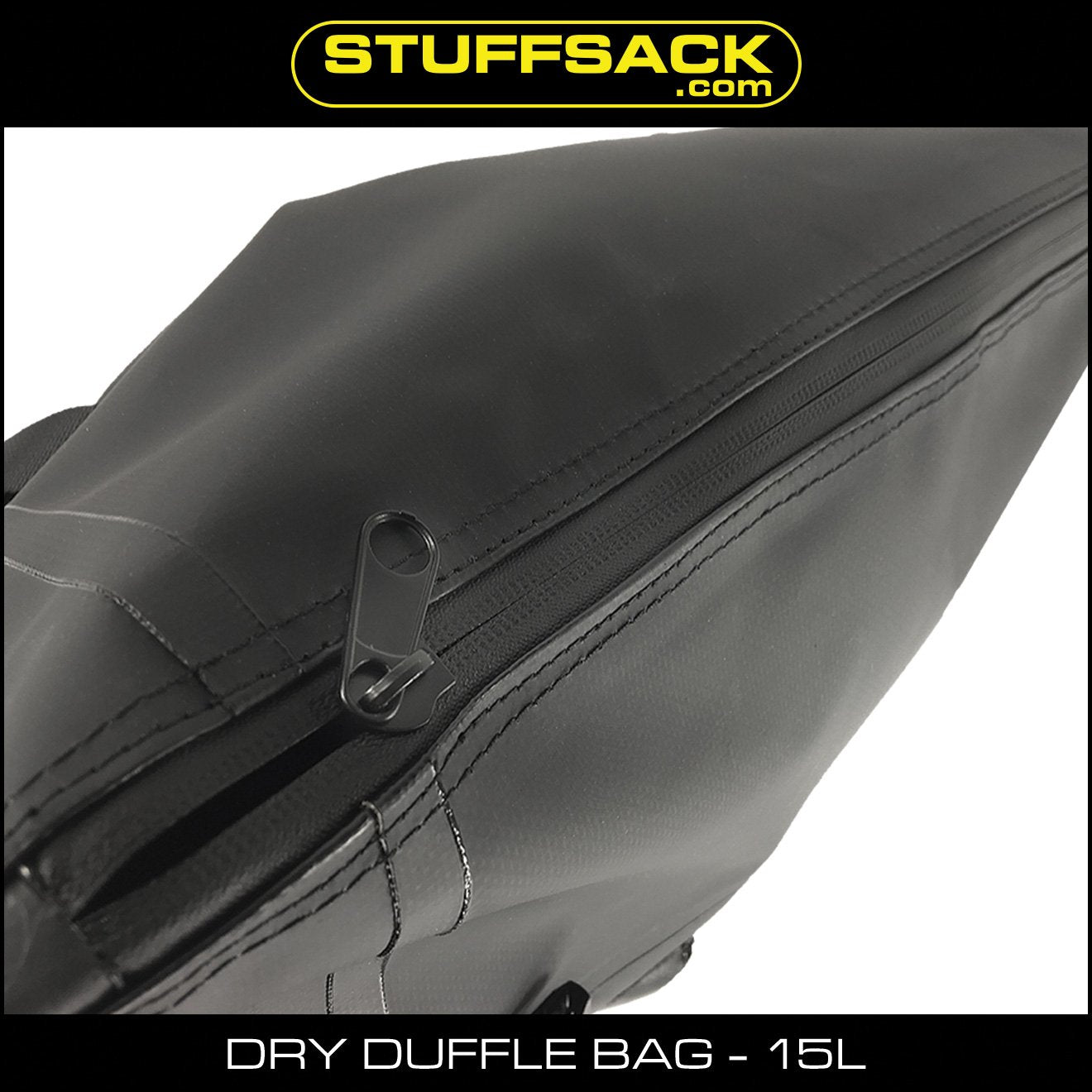 Stuffsack.com Dry Duffle Bag - 15L Black