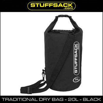Stuffsack.com Traditional Dry Bag - 20L Black