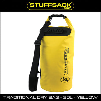 Stuffsack.com Traditional Dry Bag - 20L Yellow