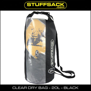 Stuffsack.com Easy View Dry Bag - 20L Black