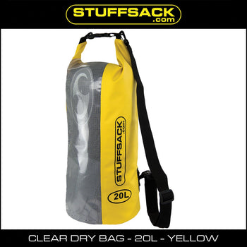 Stuffsack.com Easy View Dry Bag - 20L Yellow