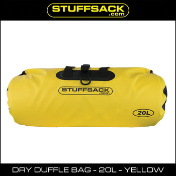 Stuffsack.com Dry Duffle Bag - 20L Yellow