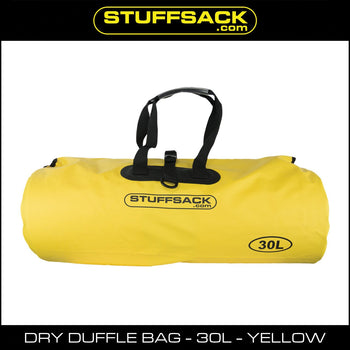Stuffsack.com Dry Duffle Bag - 30L Yellow