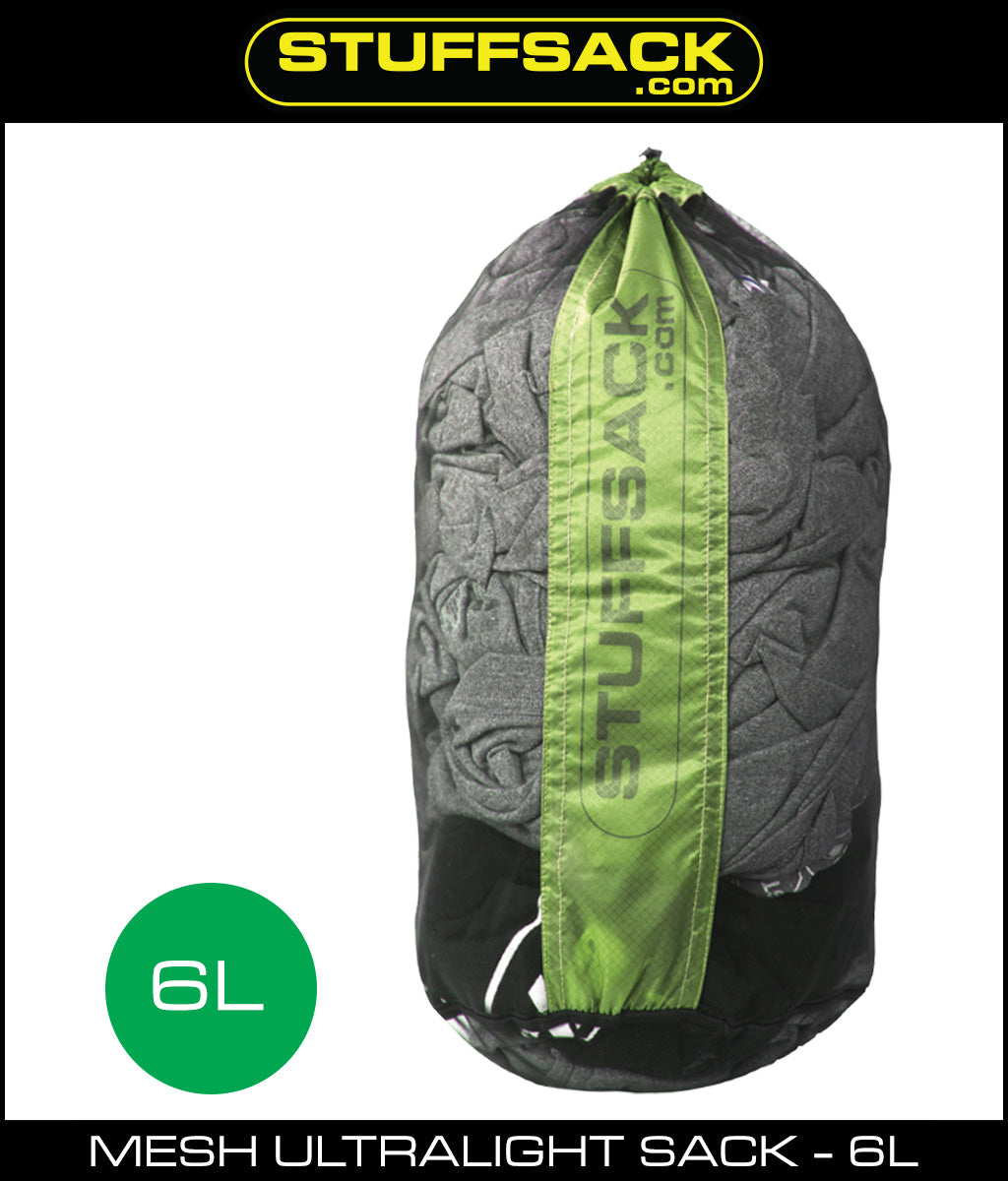 Stuffsack.com Mesh Ultralight Stuff Bag - 6L - Green