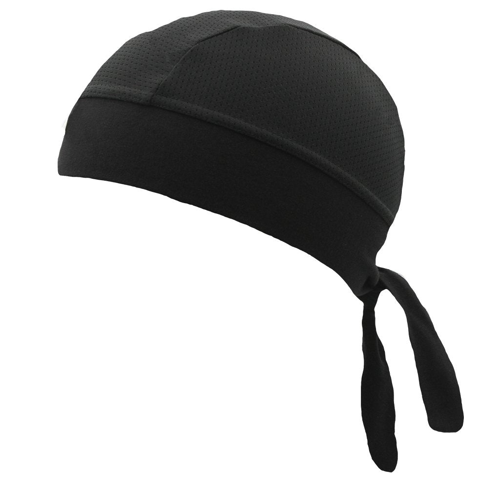 SCHAMPA Stretch Headwrap: Black Mesh