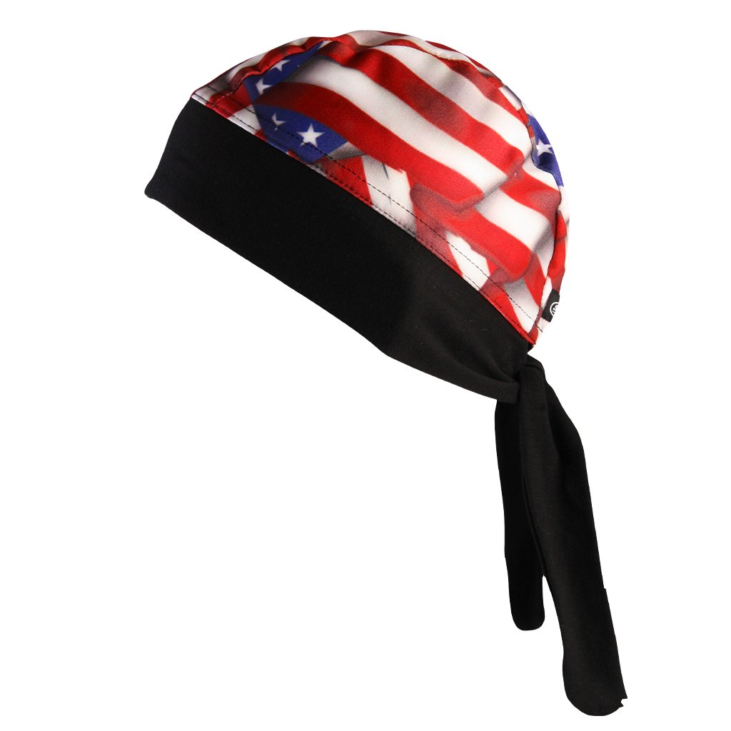 SCHAMPA Stretch Headwrap: American Flag