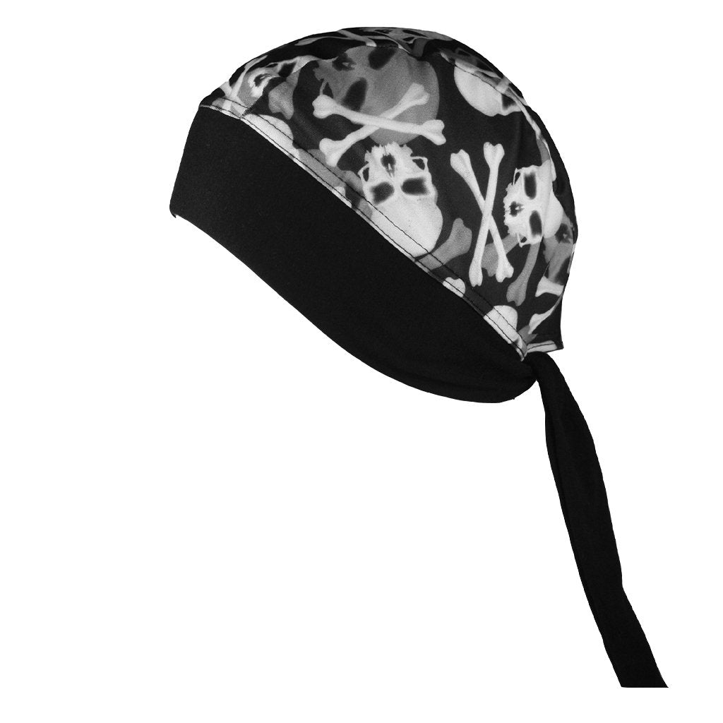 SCHAMPA Stretch Headwrap: Skull / Crossbones