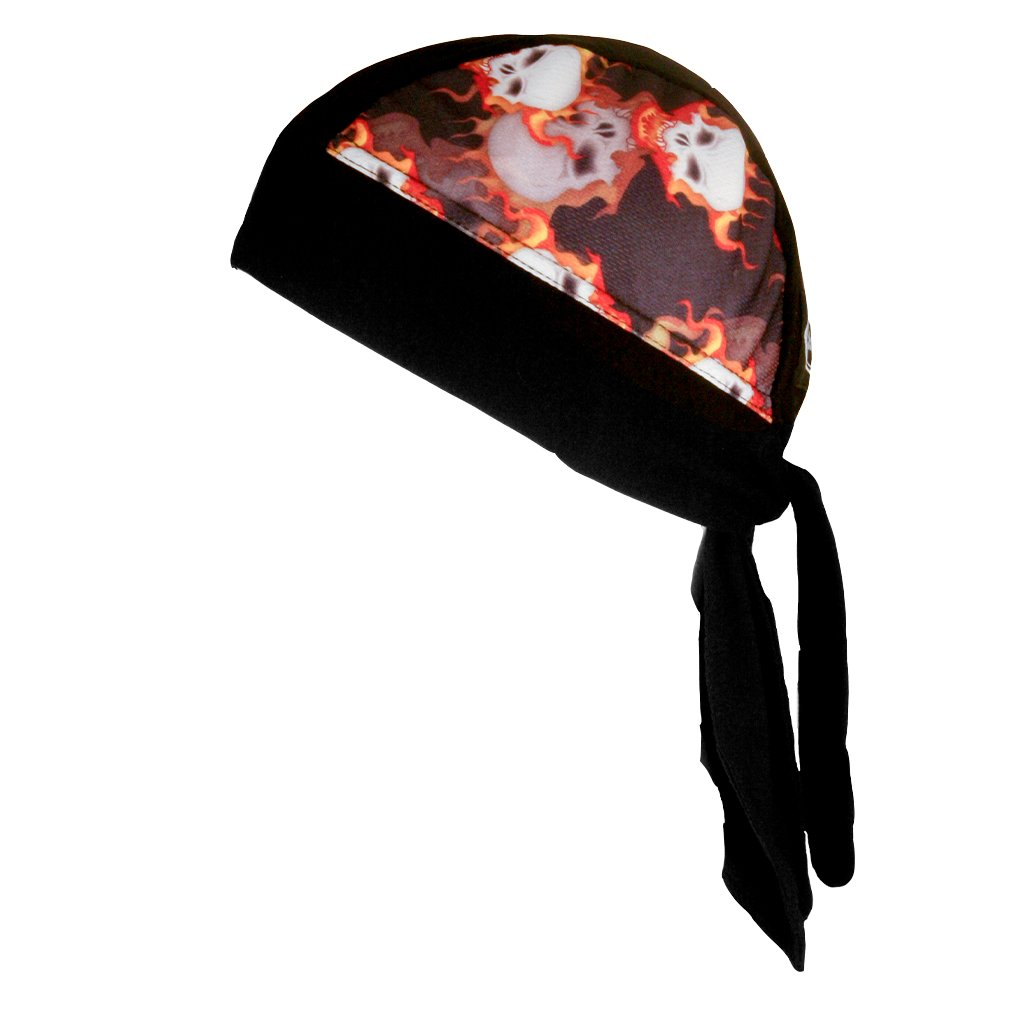 SCHAMPA Stretch Headwrap: Inferno Skull