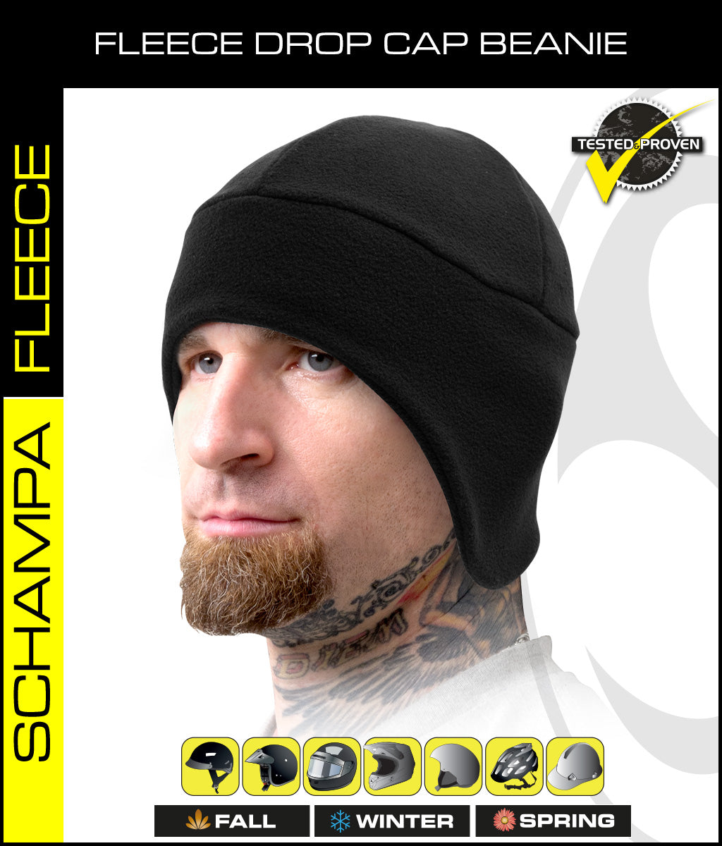 SCHAMPA Fleece Drop Cap Beanie