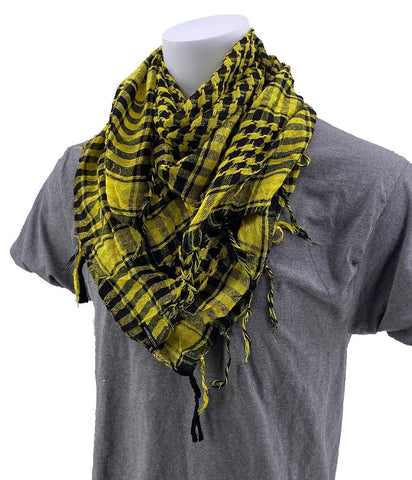 SCHAMPA Cafe Scarf - Black & Yellow