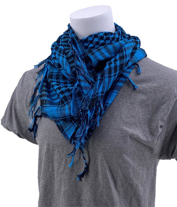 SCHAMPA Cafe Scarf - Blue & Black
