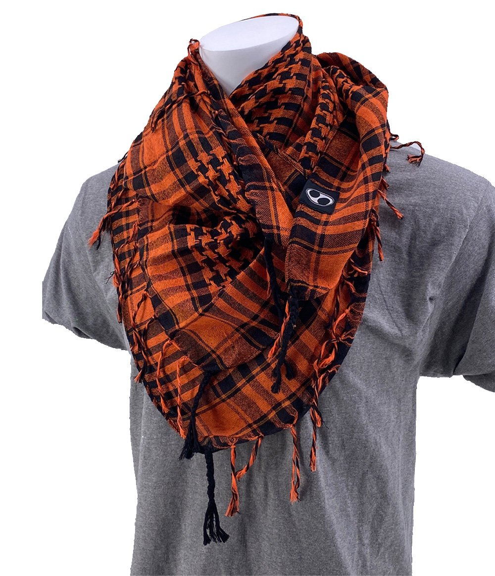 SCHAMPA Cafe Scarf - Orange & Black