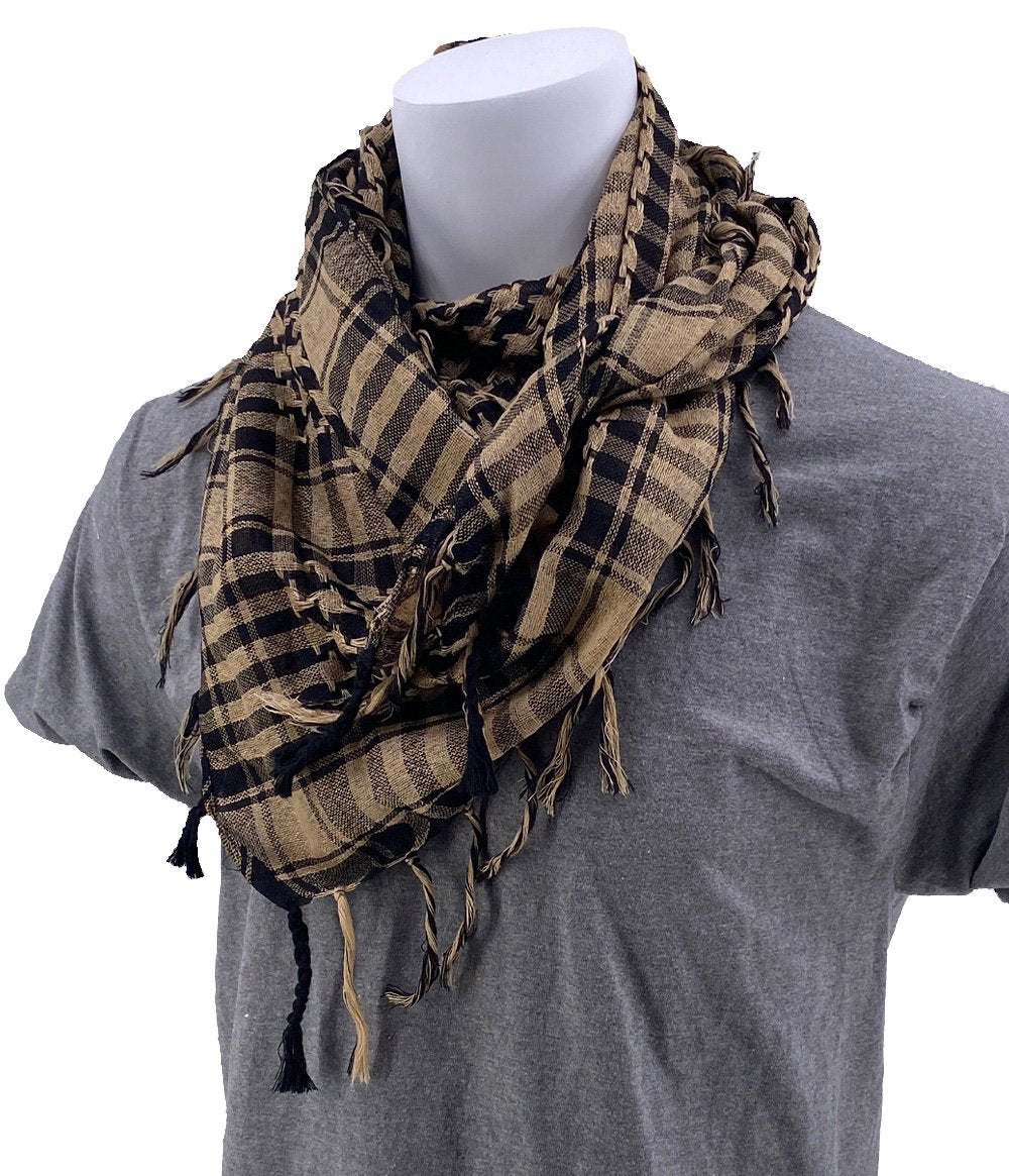 SCHAMPA Cafe Scarf - Tan & Black
