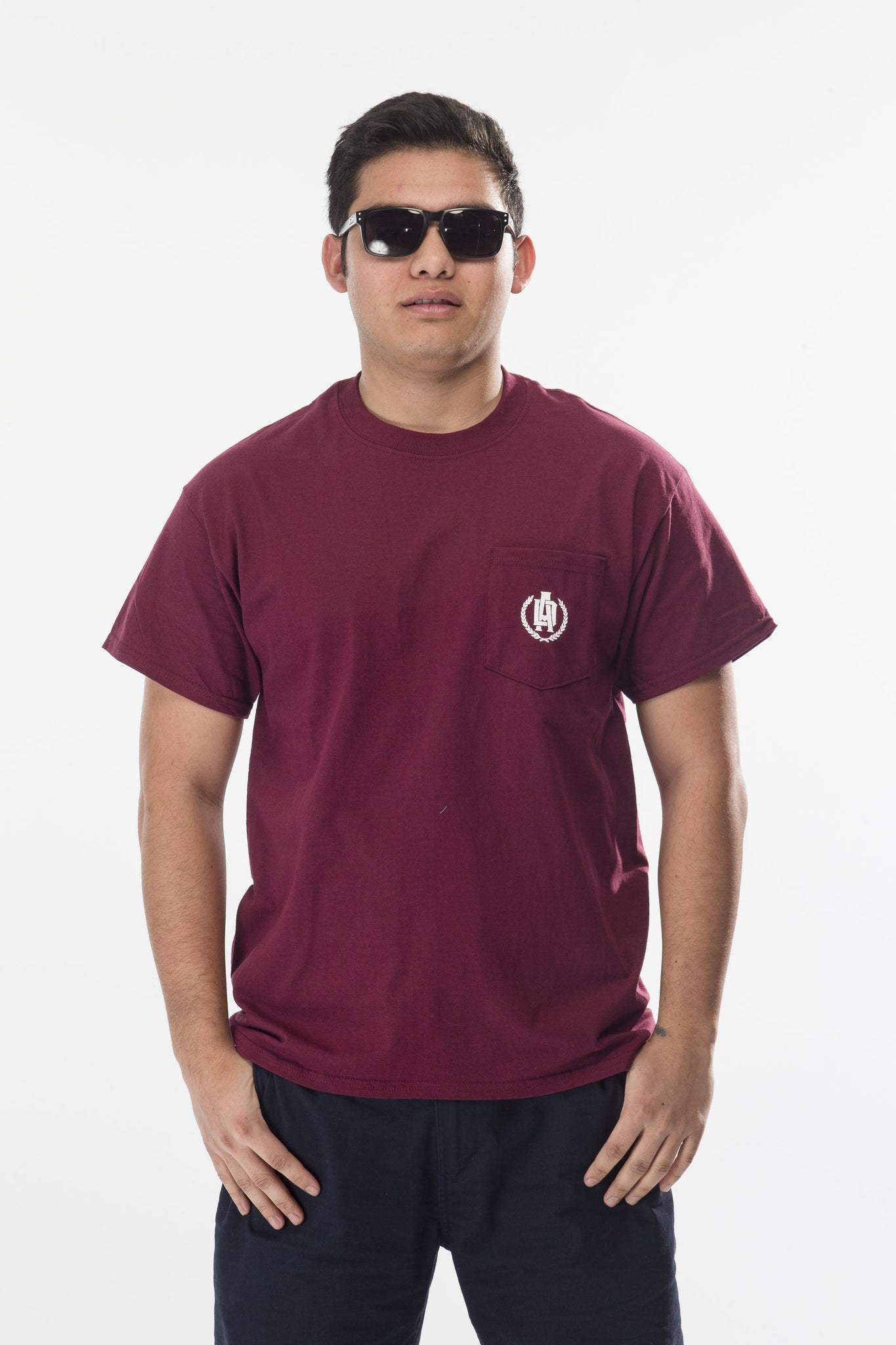 Dirt Alliance Clean Logo Pocket T-Shirt - Maroon