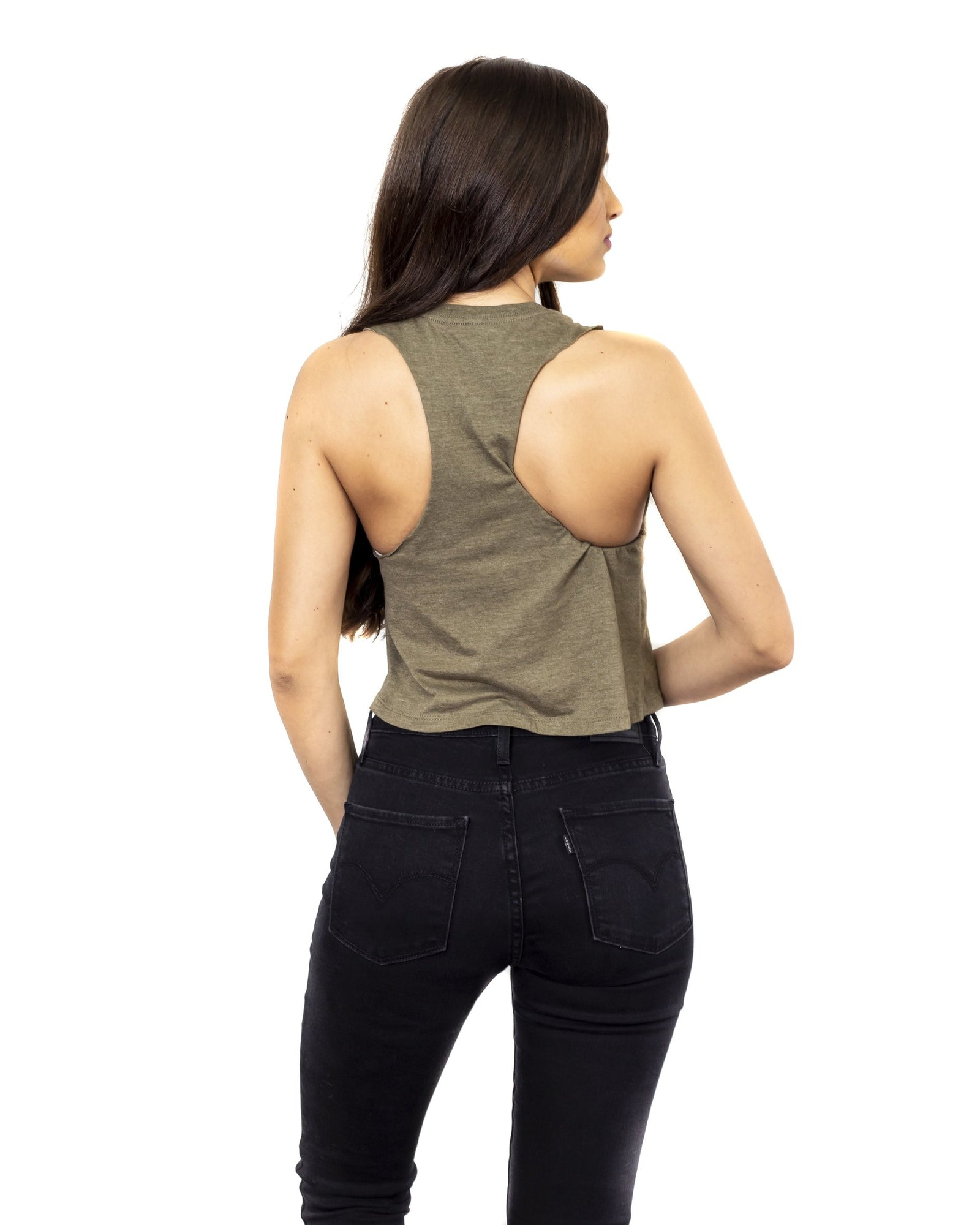 Dirt Alliance Racer Crop Top - Military Green