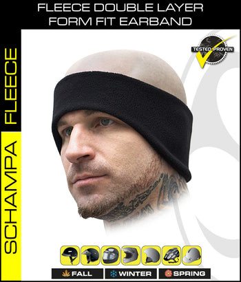 SCHAMPA Fleece Double Layer Form Fit Earband