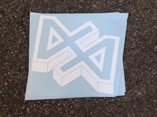 "Dirt Alliance Geometric Decal 12"" Sticker"