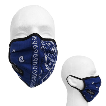SCHAMPA 100% Cotton Facemask - Royal Blue Paisley