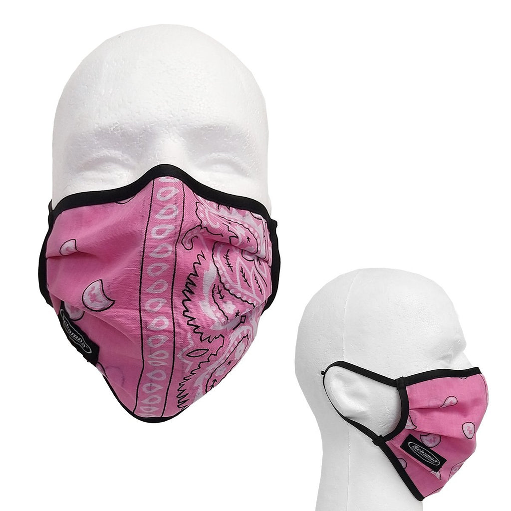 SCHAMPA 100% Cotton Facemask - Pink Paisley