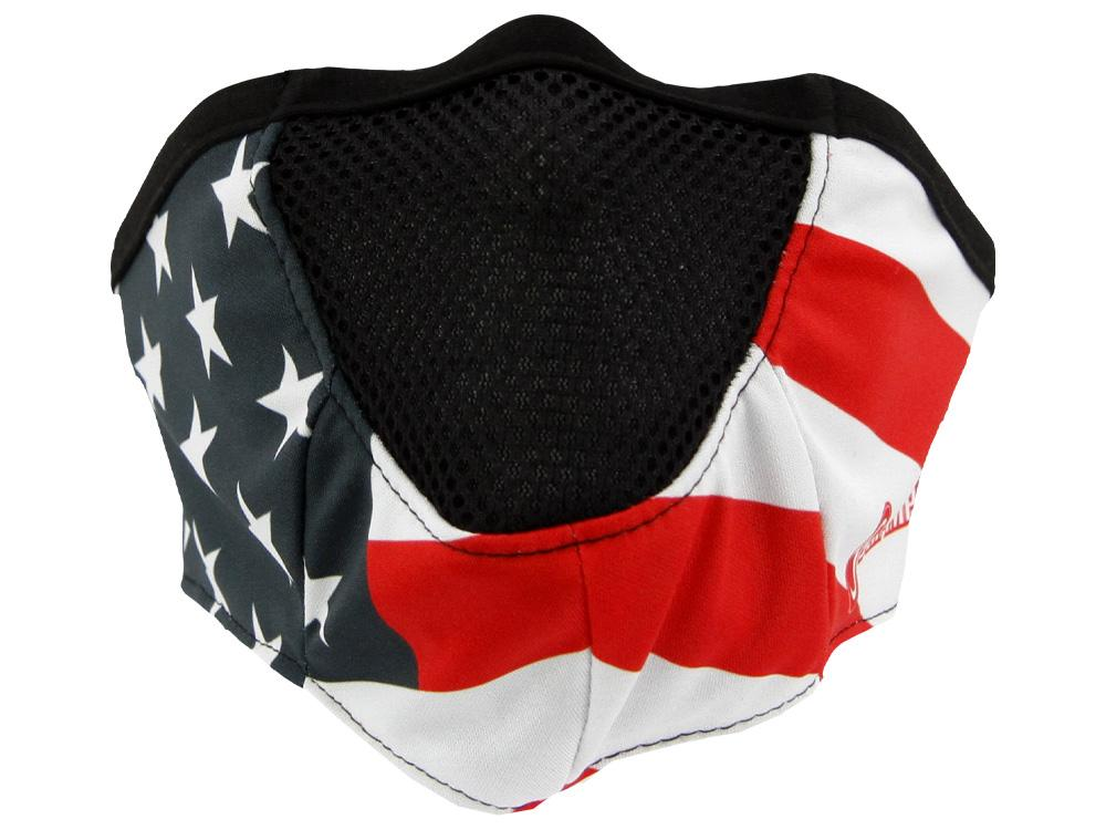 SCHAMPA Stealth Facefit Facemask - Patriot Traditional Flag