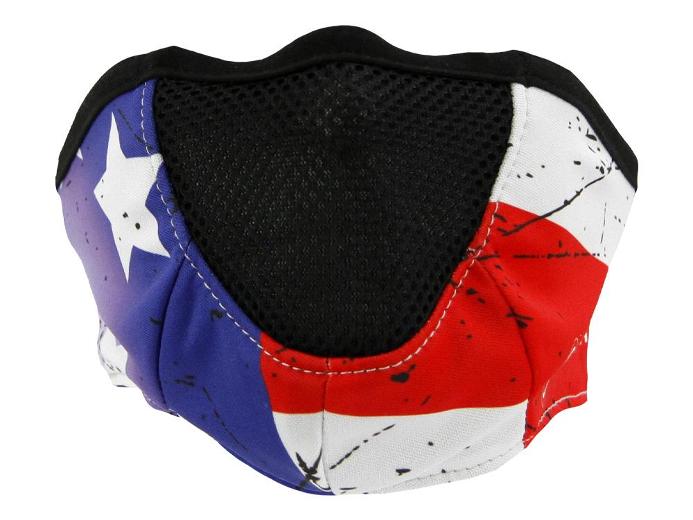 SCHAMPA Stealth Facefit Facemask - Patriot Vintage Flag w/ Color