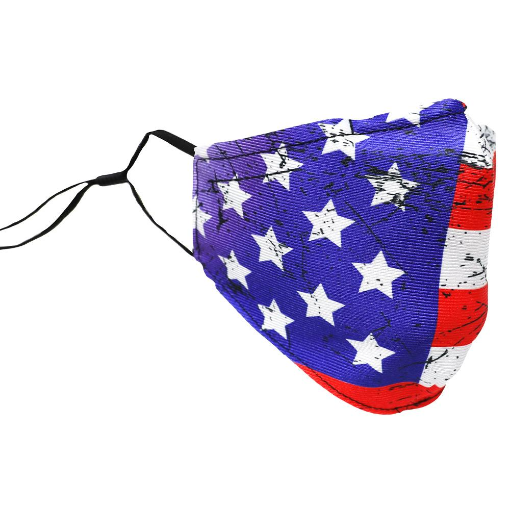 SCHAMPA Patriot Facemask - USA Vintage Flag w/ Color