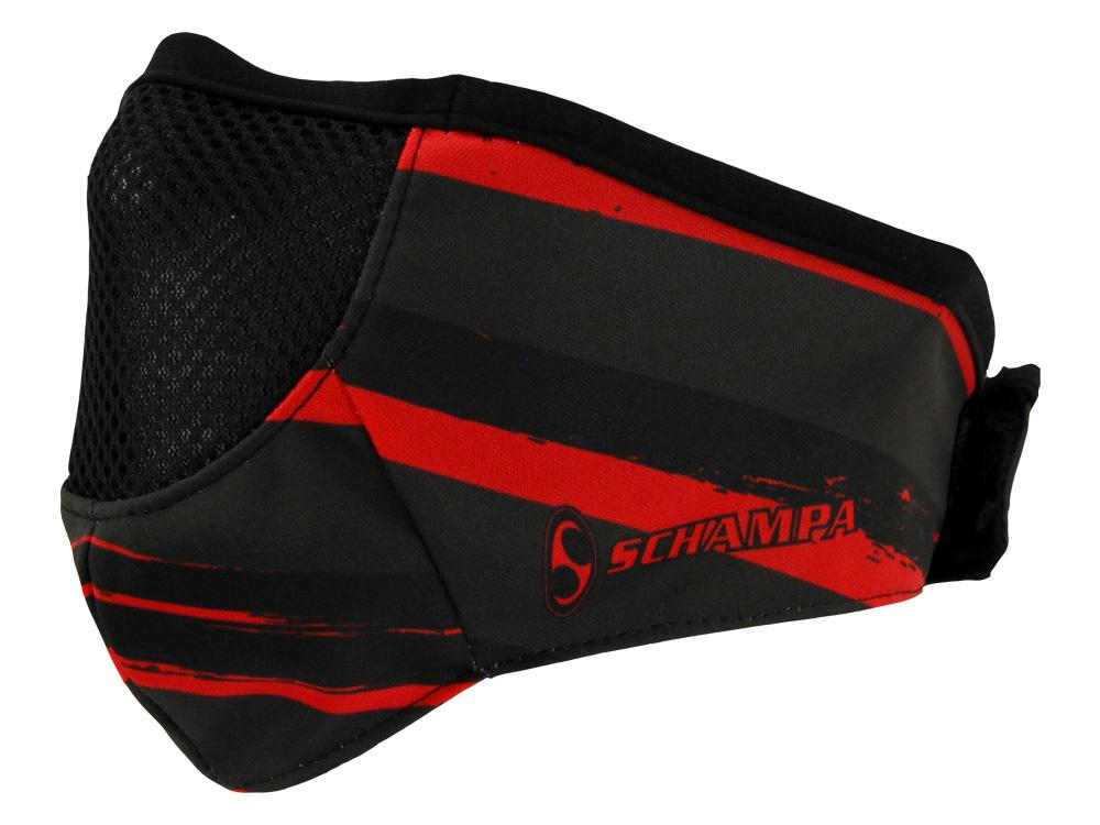 SCHAMPA Stealth Facefit Facemask - Patriot Distressed Black & Red Flag