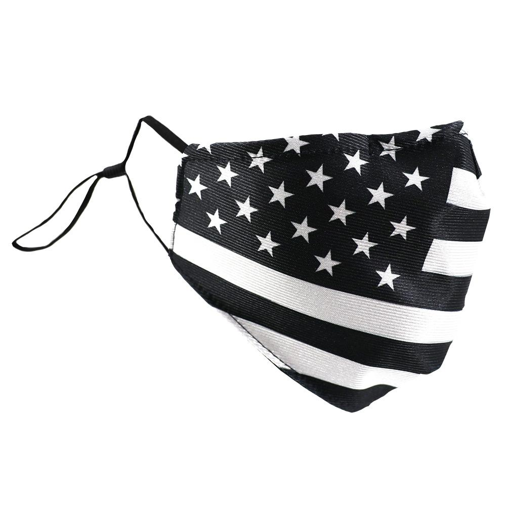 SCHAMPA Patriot Facemask - Traditional Black & White Flag