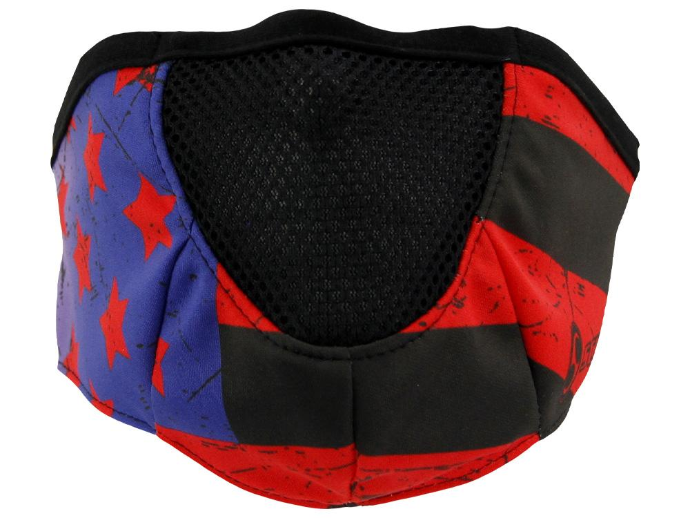 SCHAMPA Stealth Facefit Facemask - Patriot Vintage Flag w/ Red Stripes