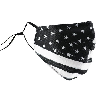 SCHAMPA Patriot Facemask - Distressed Black & White Flag