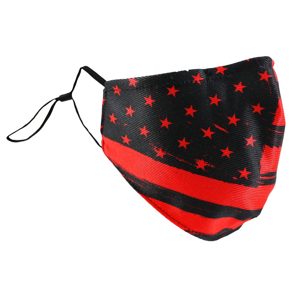 SCHAMPA Patriot Facemask - Distressed Black & Red Flag