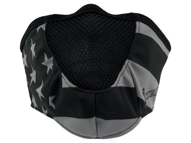 SCHAMPA Stealth Facemask - Patriot Traditional Grey Flag